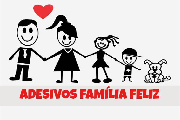 Adesivos familia feliz