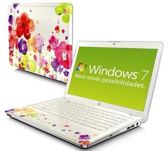 Notebook HP Flowers