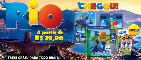 DVD Blu-Ray Brinde Filme Rio
