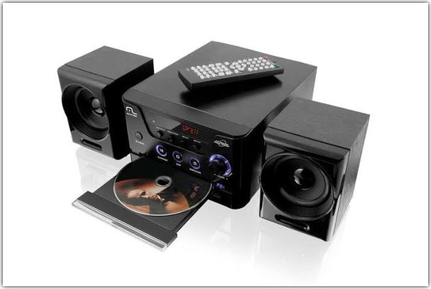 mini system com dvd player