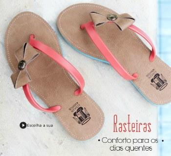 Sandálias rasteiras oferta