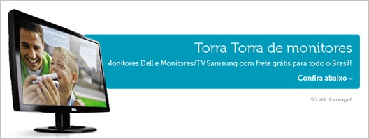 Monitores Dell e Samsung TV