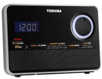 Rádio Relógio Toshiba