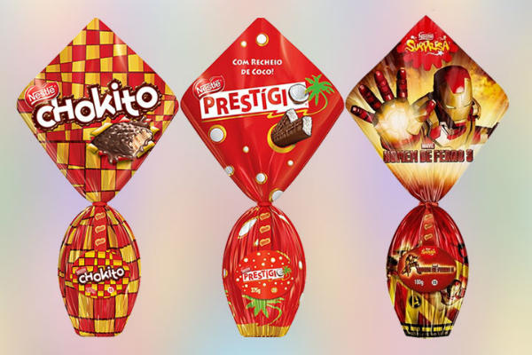 Chocolates e ovos de páscoa