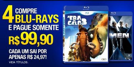4 Blu-Rays por apenas R$ 99.90