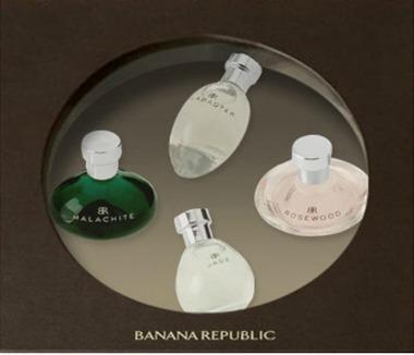estojo de miniaturas Banana Republic