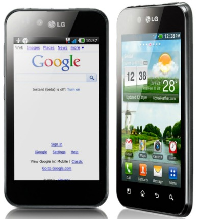 smartphone lg optimus black