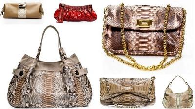 acessórios em couro python