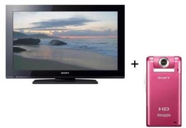 Kit TV filmadora sony