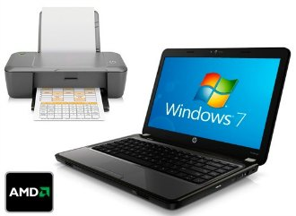 notebook HP com impressora