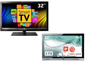 Kit com 2 TVs de LED AOC