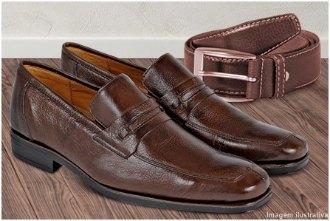 Kit com sapato e cinto