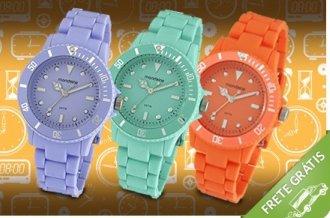 relógios mondaine fluor