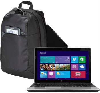 Notebook Gateway com mochila