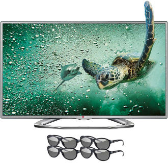 TV LED 3D LG com kits