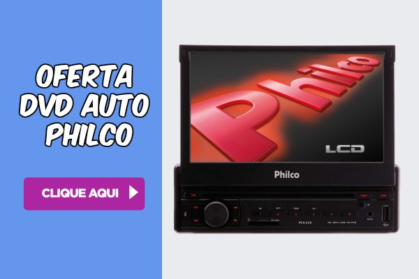 DVD automotivo Philco touch screen