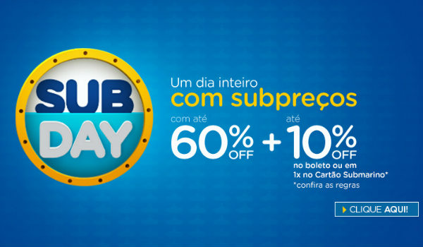 Subday Submarino com descontos