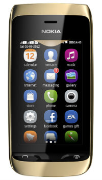 Nokia Asha 310 dourado