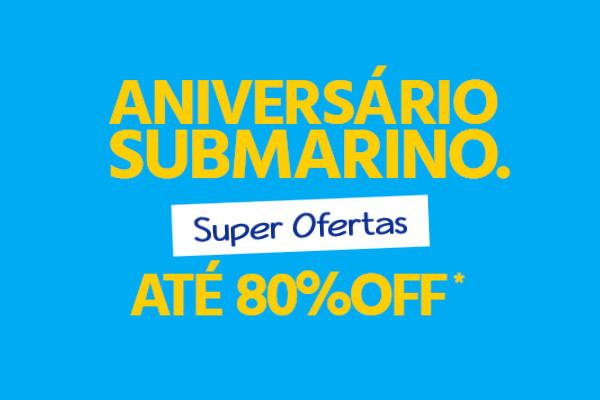 Aniversário Submarino super descontos