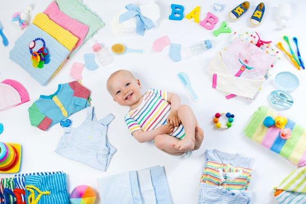 Seleção de moda para bebês