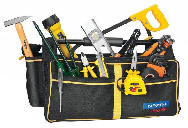 Bolsa ferramentas para eletricista