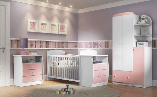 berços para quarto do bebê rosa