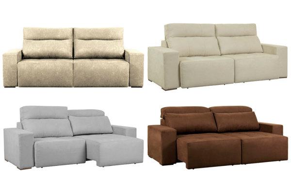 sofás 3 lugares reclinável