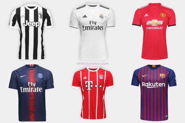 Camisas de times europeus