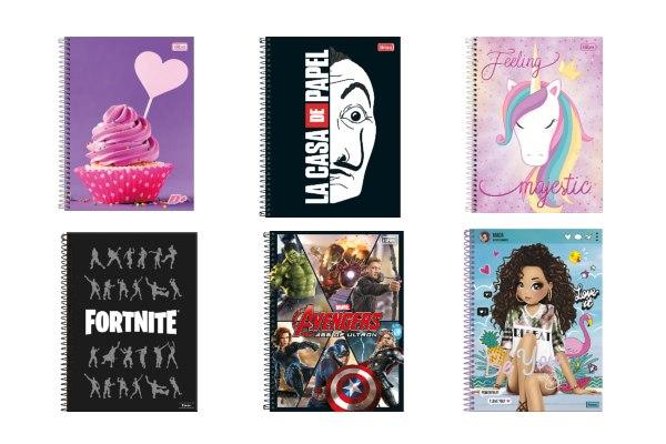 Cadernos escolares e universitários